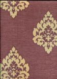 Olympia Wallpaper Gemini Damask 484-68089 By Brewster Fine Decor